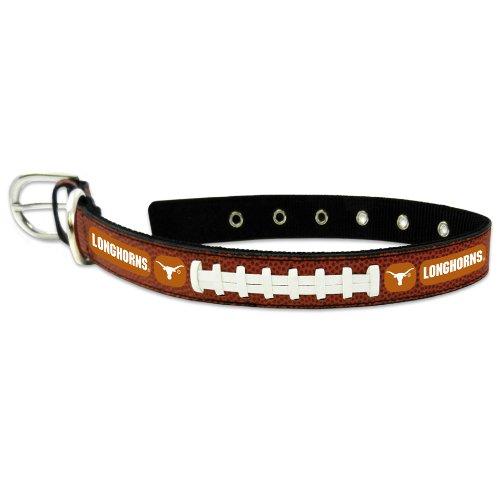 NCAA Texas Longhorns Classic Leather Football Collar, Medium