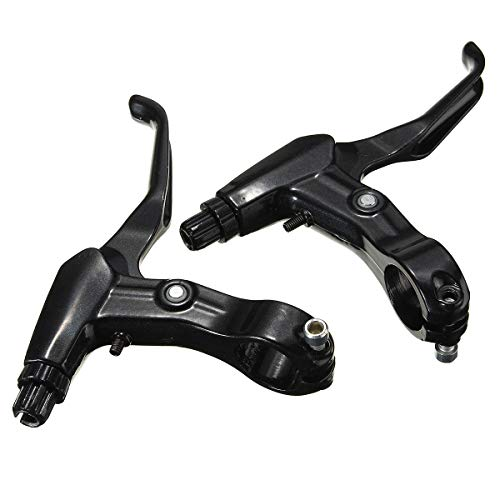 Hitommy 22mm Aluminium Alloy Mountain Bicycle Bike Handle Hand Brake Levers Caliper Gear Lever - Black ()