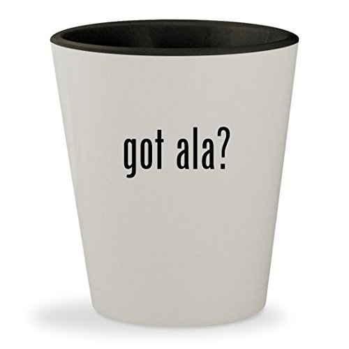 Got Ala    White Outer   Black Inner Ceramic 1 5Oz Shot Glass