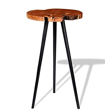 Merveilleux Vintage Industrial Bar Table Rustic Wooden High Breakfast Solid Mango Wood  Table Top Metal Iron Legs