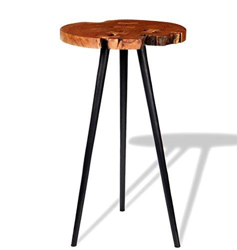 Mesa de bar industrial vintage rústica de madera de alto desayuno ...
