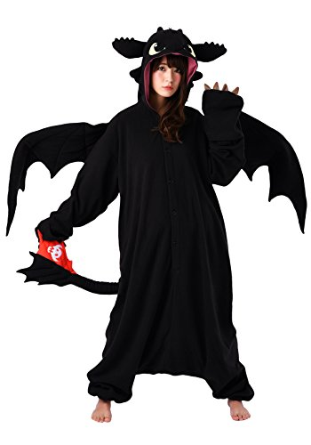 SAZAC Kigurumi - How to Train Your Dragon - Toothless - Onesie Halloween Costume - Adult -