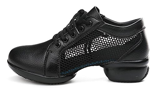 JiYe Womens Outdoor Dance Shoes Fashion Breathable Soft Sports Sneakers by Black oQdx4L