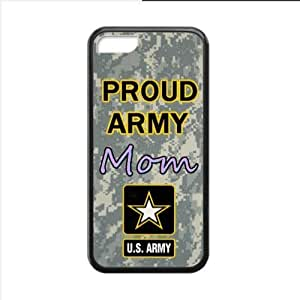 Case ,Proud Army Mom Proud Army Apple iphone 5C TPU (Laser Technology) Case, Cell Phone Cover