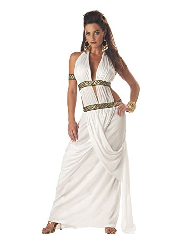 Spartan Goddess Costume (California Costumes Women's Spartan Queen,White,Medium)