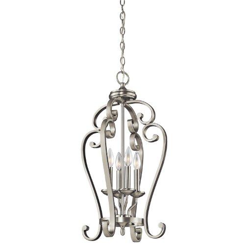 Kichler Lighting 43165NI Monroe 4-Light Foyer Pendant, Brushed Nickel Finish