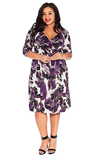 IGIGI Women's Plus Size Alex Dress in Violet Shadow 18/20