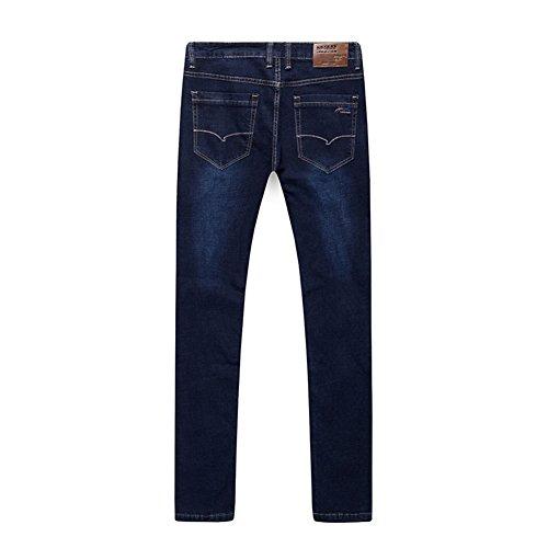 SK Studio Herren Jeans Jeanshose Lässige Denim Regular Fit Stretch Lange elastische Jeans Blau 42W