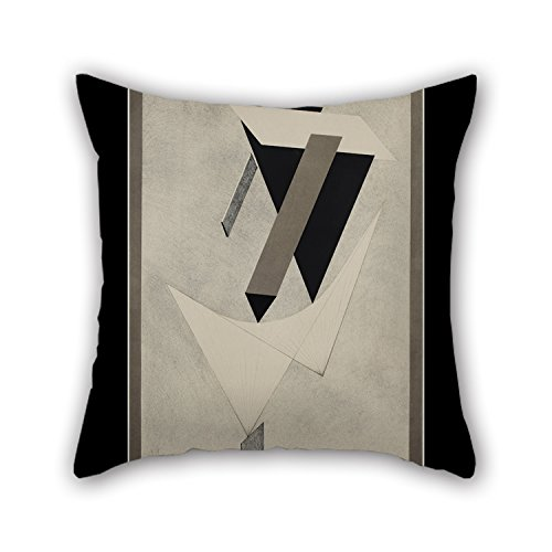 - 16 X 16 Inches / 40 By 40 Cm Oil Painting Lazar El Lissitzky - Kestnermappe Proun, Rob. Levnis And Chapman GmbH Hannover -4 Pillow Covers Twin Sides Ornament And Gift To Couples Couch Birthday Fat