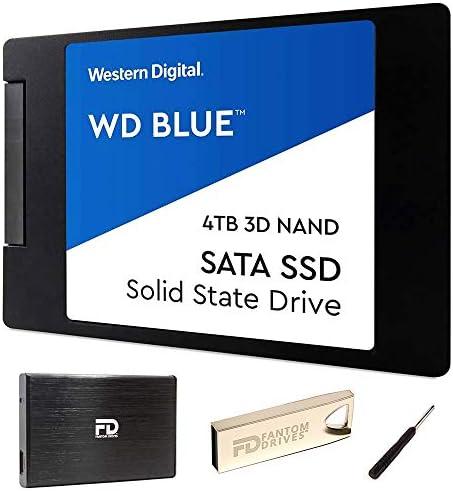 "4TB 2.5"" SSD 3-d TLC NAND Internal Solid State Drive Upgrade Kit with WD Blue WDS400T2B0A"