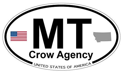 Crow Agency, Montana Oval Magnet