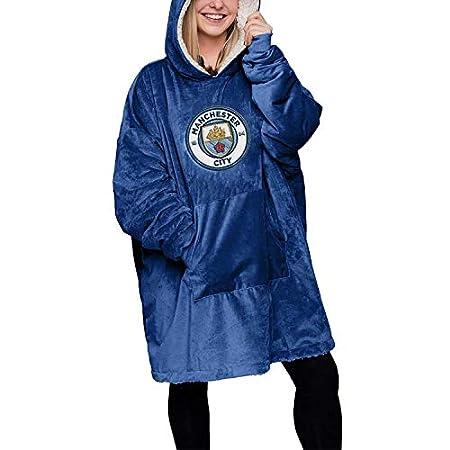 Football Club Reversible Sherpa Fleece Blanket Hoodeez Pullover Sweatshirt Premier League 41sSjnNz2PL