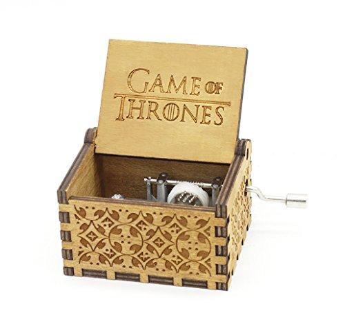 Sooye Colección de Fans Caja de Musica Game of Thrones- 18 Notas Caja de Música Movimiento Mecánico (Juego de Tronos)