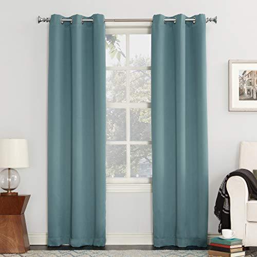 Sun Zero Easton Blackout Energy Efficient Grommet Curtain Panel, 40