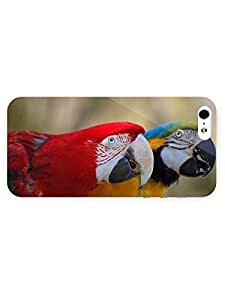3d Full Wrap Case for iPhone 5/5s Animal Colorful Parrots61