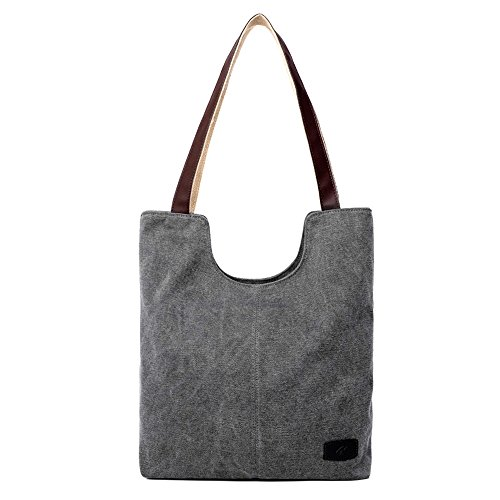 Hobo Female Leather Solid Bags Womens Storage Capacity Gray Totes Crossbody Bag Shoulder Large Xuanbao Handbag Retro Tote Ladies Leisure Canvas fUwp5zx