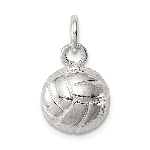 (925 Sterling Silver Volleyball Pendant Charm Necklace Sport Fine Jewelry Gifts For Women For Her)