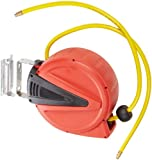 Apache 99023409 Auto-Rewind, Poly Air Hose Reel with 3/8'' x 30' 150 PSI PVC Air Hose