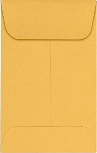 #1 Coin Envelopes (2 1/4 x 3 1/2) – 24lb. Brown Kraft (500 Qty.) | Perfect for the HOLIDAYS, Weddings, Parties & Place Cards | Fits Small Parts, Stamps, Jewelry, Seeds | 94680-500