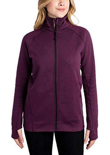 Kirkland Signature Ladies Full Zip Jacket (Purple, Medium)