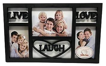 Amazoncom Live Laugh Love Wall Decor Picture Frame Black