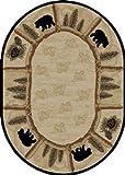Cheap Dean Toccoa Bear Lodge Cabin Bear Area Rug Size: 5'3″ x 7'3″ Oval