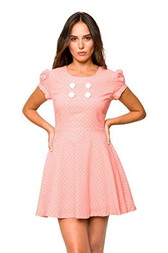 Divina Providencia Anne Moteado, Vestido para Mujer Rosa
