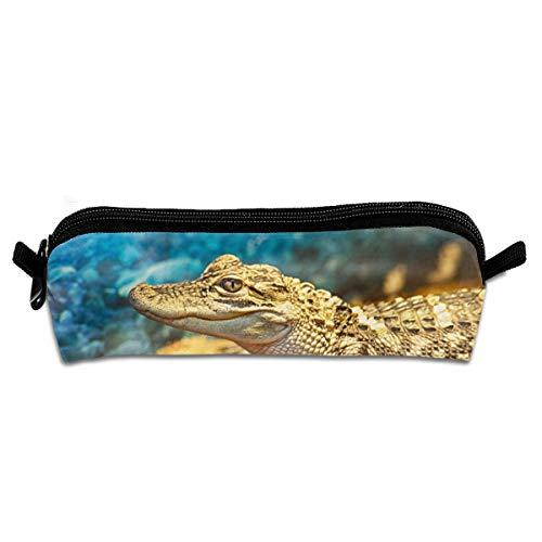 Kui Ju Pencil Bag Pen Case Fierce Crocodile Cosmetic Pouch Students Stationery Bag Zipper Organizer]()