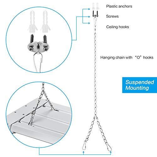 AntLux 80W 4ft Low Bay LED Utility Shop Lights, 9000
