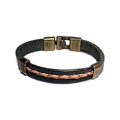 AUTHENTIC HANDMADE Leather Bracelet, Men Women Wristbands Braided Bangle Craft Multi [SKU003171]