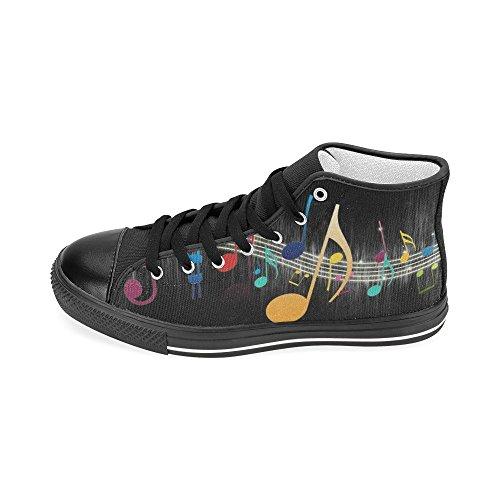 D-story Personalizzato Musica Colorata Note Mens Classico High Top Scarpe Di Tela Moda Sneaker