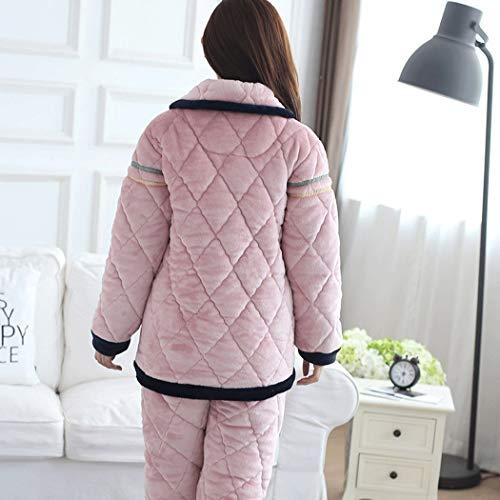 D Otoño Para Invierno Pijamas color Más Xxxl Terciopelo E Ropa Capas B Maternidad Amamantar Pink Engrosamiento Tamaño Tres Huifei Franela De TCqwdq8