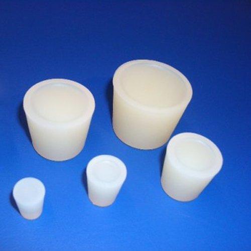 Thomafluid Stopfen aus Silikon für die Food- und Pharmatechnik, Ø-oben: 8 mm, Ø-unten: 4 mm, Höhe: 20 mm, 25 Stück