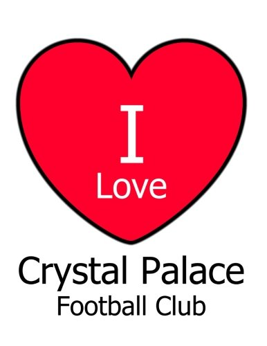 I Love Crystal Palace Football Club: White Notebook/Notepad for Writing 100 Pages Crystal Palace Football Gift for Men, Women, Boys & (Kensington Crystals)