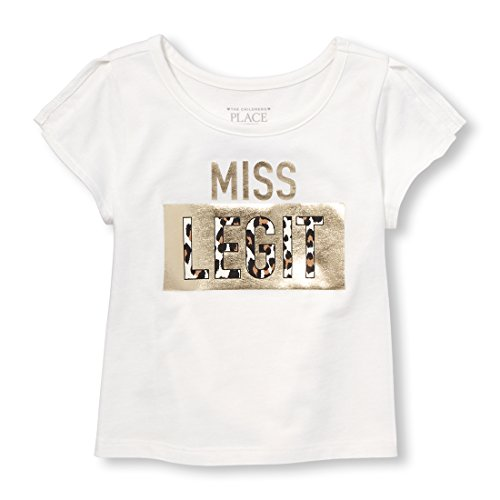 Pre Match Short Sleeve Top - The Children's Place Baby Girls Short Sleeve Top, Simplywht 98118 3T