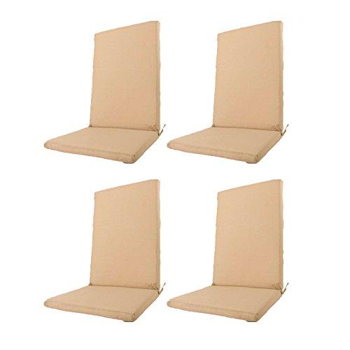 Edenjardi Pack 4 Cojines textilene para sillas de Exterior ...