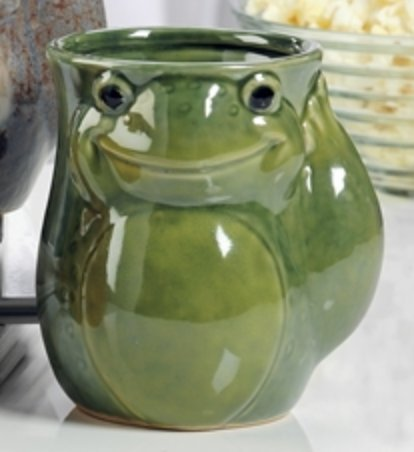 Ceramic Right or Left Hand Warmer Mug in Various Animal Designs (Frog, Left-Handed) by Gift Craft