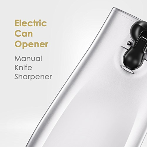 Comfee Electric Can Opener, this 65w motor-driven kitchen tool uses stainless steel blade and magnetic lid holder to open any types of cans, quick and simple. A manual knife sharpener is also located by COMFEE' (Image #1)