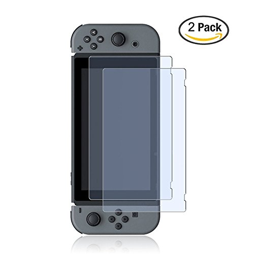 Nintendo Switch Glass Screen Protector, ZeroLemon Nintendo Switch 0.25mm Tempered Glass Screen Protector for Nintendo Switch 2017 (2-Pack)