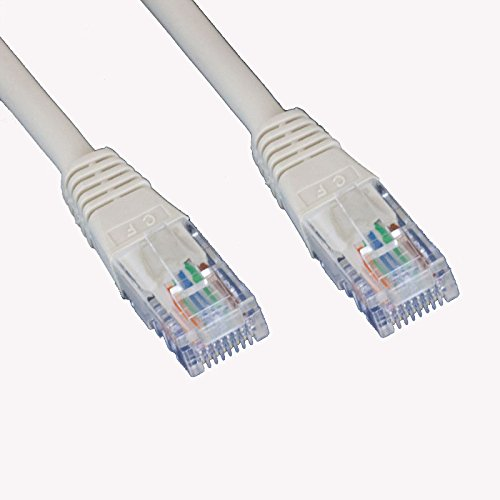 60FT Feet CAT5 Cat5e Ethernet Patch Cable - RJ45 Computer Networking Wire Cord (White)