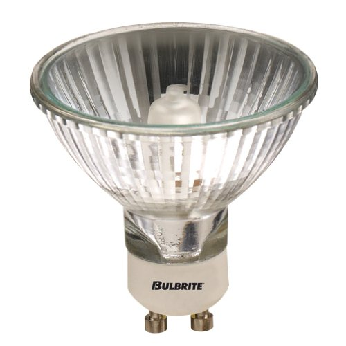 20 Qty. Bulbrite 75MR20/GU10F 75-Watt Dimmable Halogen MR20 Lensed, GU10 Base, Clear Bulb