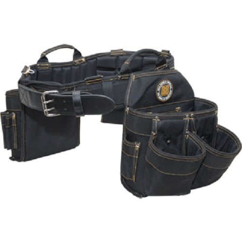 (Rack-A-Tiers 43244 Electrician's Belt and Bag Combo 9 Pockets X-Large 41 - 44 Inch Waist Black)