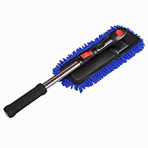 Car Cleaning Wash Brush Duster - Clystorm (2017 New Design) Microfiber Brush Telescopic Long Handle for Car SUV Caravan Van Window, Scratch-Free, Lint-Free, Extendable