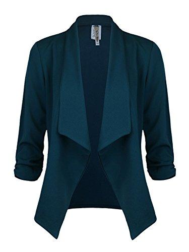 Instar Mode Women's Versatile Business Attire Blazers in Varies Styles (B12316 Green, Medium) by Instar Mode (Image #4)