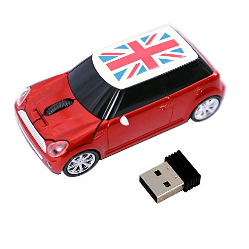 Jinfili Cool Style Car Wireless Mouse Ergonomic USB Gaming Mice for Desktop Laptop PC Notebook
