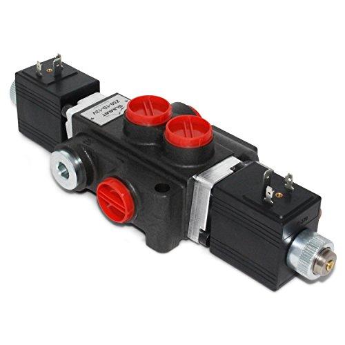 Hydraulic Monoblock Solenoid Directional Control Valve, 1 Spool, 13 GPM, 12V DC ()