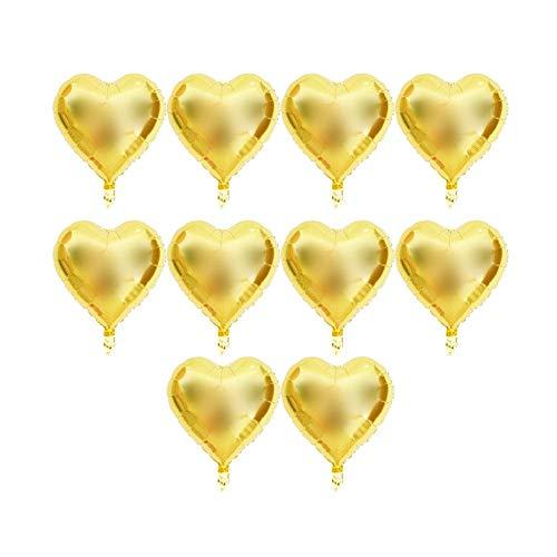 TOPINCN 10pcs Foil Heart Helium Balloon 18