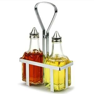 TableCraft de Vinagrera y aceitera servicio de mesa | Juego de aderezos para ensalada, vinajera, de Vinagrera y aceitera Pourers, de Vinagrera y aceitera Drizzlers