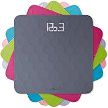 Silicone Digital Bathroom Weight Scale by Balance, Measures Body Weight, Large Precision Glass Top, Accurate Backlit Shine Through Display (Scale + Slate Gray Top)