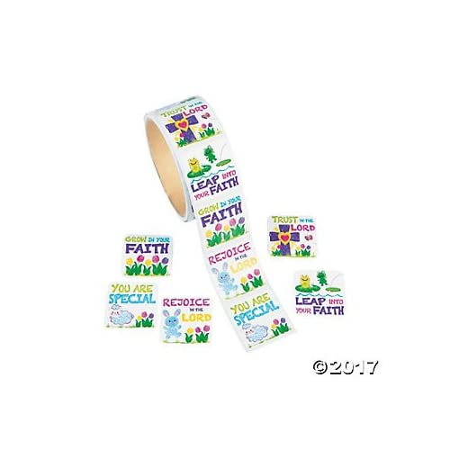 200 FAITH - Trust in the LORD - RELIGIOUS Stickers (2 rolls of 100) Inspirational CHRISTIAN - EDUCATION - EASTER - Teacher Motivational Rewards VBS VACATION Bible School